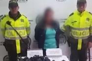 Mujer detenida en Bogotá