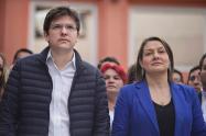 Miguel Uribe Turbay y Ángela Garzón