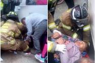 Rescate de arrollada en Bogotá