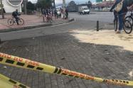 Lugar donde ocurrió un atropellamiento masivo, en el noroccidente de Bogotá
