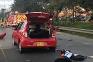 Accidente vial en la Autopista Norte con calle 153, en Bogotá