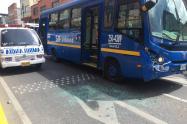 Choque entre dos buses