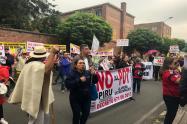 Manifestación contra el POT