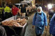 Tres toneladas de pollo fueron decomisadas en Bogotá.