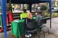 Policía atiende denuncias de la ciudadanía en el sector del Park Way