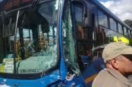 Accidente de bus del SITP en Bogotá