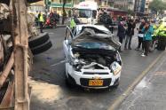 El accidente en la carrera 30 con calle 2, en Bogotá