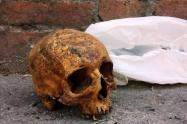Hallan restos humanos