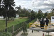 Disturbios entre encapuchados y el Esmad en la Universidad Nacional