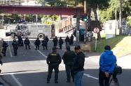 Enfrentamiento de manifestantes y Esmad en la Macarena