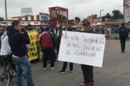 Transportadores informales protestando en Soacha (Cundinamarca)