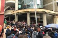 Universidad Distrital de Bogotá y la concentración de estudiantes.