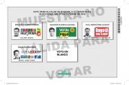 Tarjeta electoral elecciones Bogotá