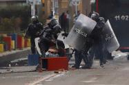Así se escapó un temerario manifestante Esmad