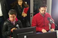 Claudia López y Carlos Fernando Galán en el Debate Inteligente.