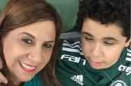 Silvia Grecco y su hijo Nickollas