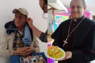 El obispo de la capital quindiana vivió en carne propia lo que siente un habitante de calle