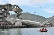 Puente desplomado en Taiwán