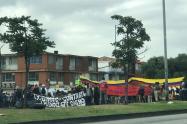 Marcha estudiantes del SENA