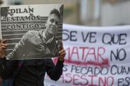 Homenaje al joven Dilan Cruz, muerto en Bogotá