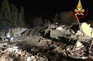 Derrumbe de edificio en Italia