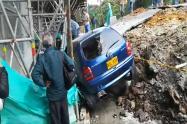 Impresionante derrumbe en Manizales