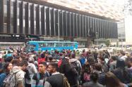Inician marchas pacificas hacía la alcaldía de Bogotá