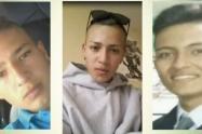 Brayan Andrés Montaña Pulido, Juan Esteban Moreno Pachón y Henry Mauricio Castillo Soche (16 años)