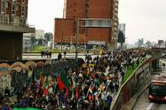 Noveno día de paro en Bogotá