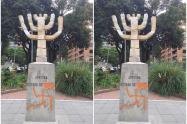 Vandalizan monumento del Estado de Israel en el norte de Bogotá