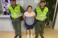 Mujer capturada por maltrato