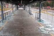 Estación de Transmilenio Policarpa quedó totalmente destruida