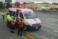 Accidente de motociclista en Niza, Bogotá
