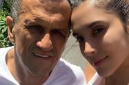 Daniela Ospina y su papá
