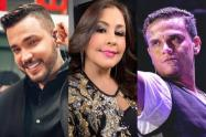 Jessi Uribe, Arelys Henao y Silvestre Dangond