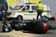 Accidente de motociclista en la Avenida Boyacá