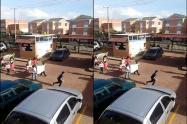 Niños protestaron para que los dejaran jugar en un conjunto residencial