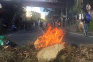 Incendio de encapuchados en protestas