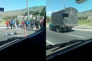 Motociclista muere en Soacha después de ser arrollado por un camión