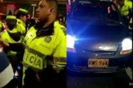Policías son obligados por taxistas a colocar una multa