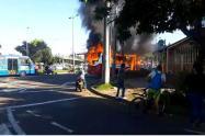 Incendio de bus SITP provisional