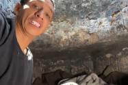 Jhon Jairo Sarmiento, hombre que vivía en una alcantarilla