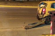 Motociclista se estrelló contra taxista