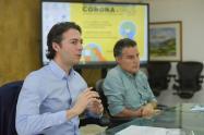 El alcalde de Medellín, Daniel Quintero, y el gobernador de Antioquia, Aníbal Gaviria