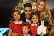 Falcao y su familia