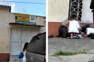 Niños reciben clase en la calle en Ibagué