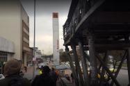 Puente peatonal en Bogotá