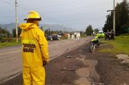 En la vía Ubaté Sutatausa se presentó el accidente, entre vehículo particular y un camión de carga