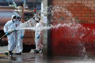 Así fue el proceso de desinfección de Corabastos en Bogotá en medio de la amenaza del coronavirus.