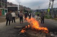 Protestas en el sur de Bogotá